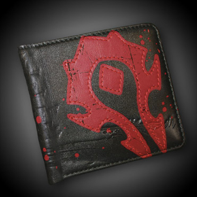 Jinx WoW Horde Crest Leather Wallet