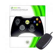 Геймпад Microsoft Xbox 360 Wireless Controller PC (Black)